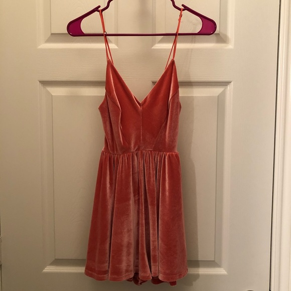 Urban Outfitters Dresses & Skirts - Pink Velvet Crush Romper size SMALL